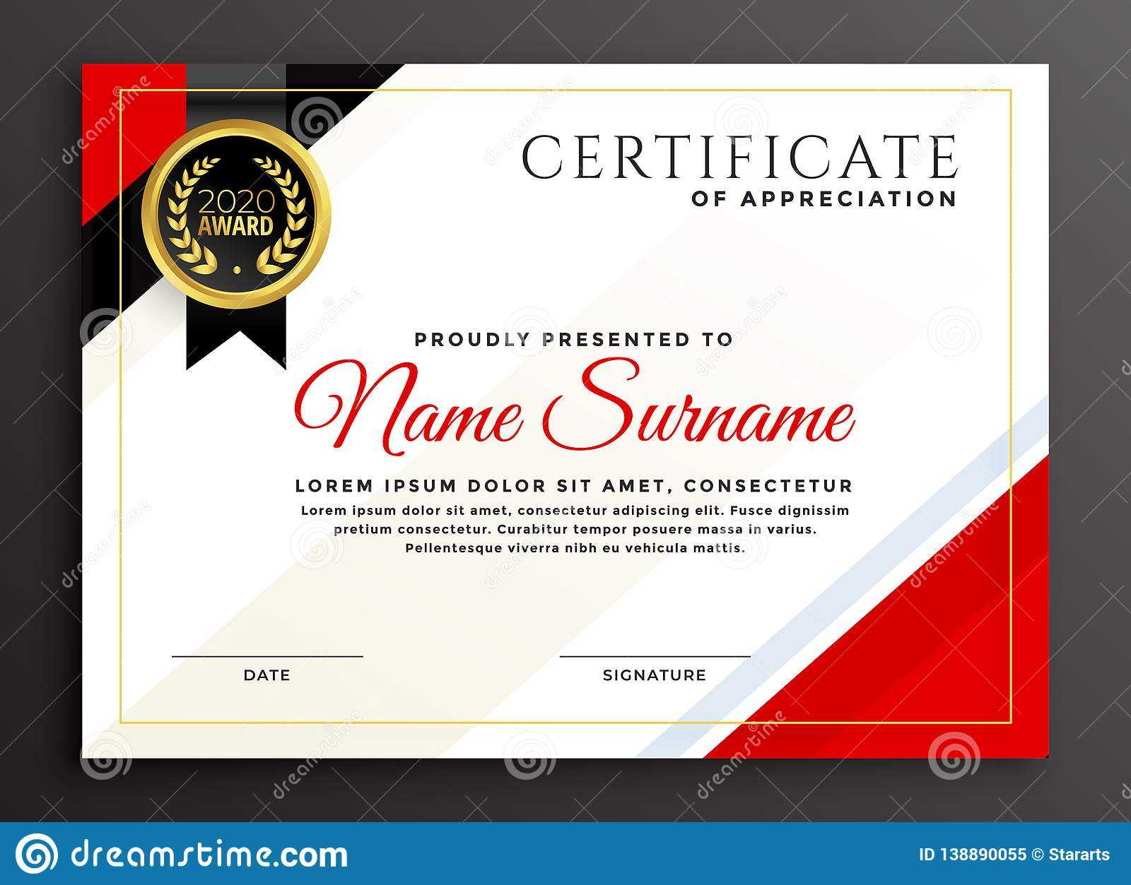 Elegant Diploma Certificate Template Design Stock Vector For Qualification Certificate Template