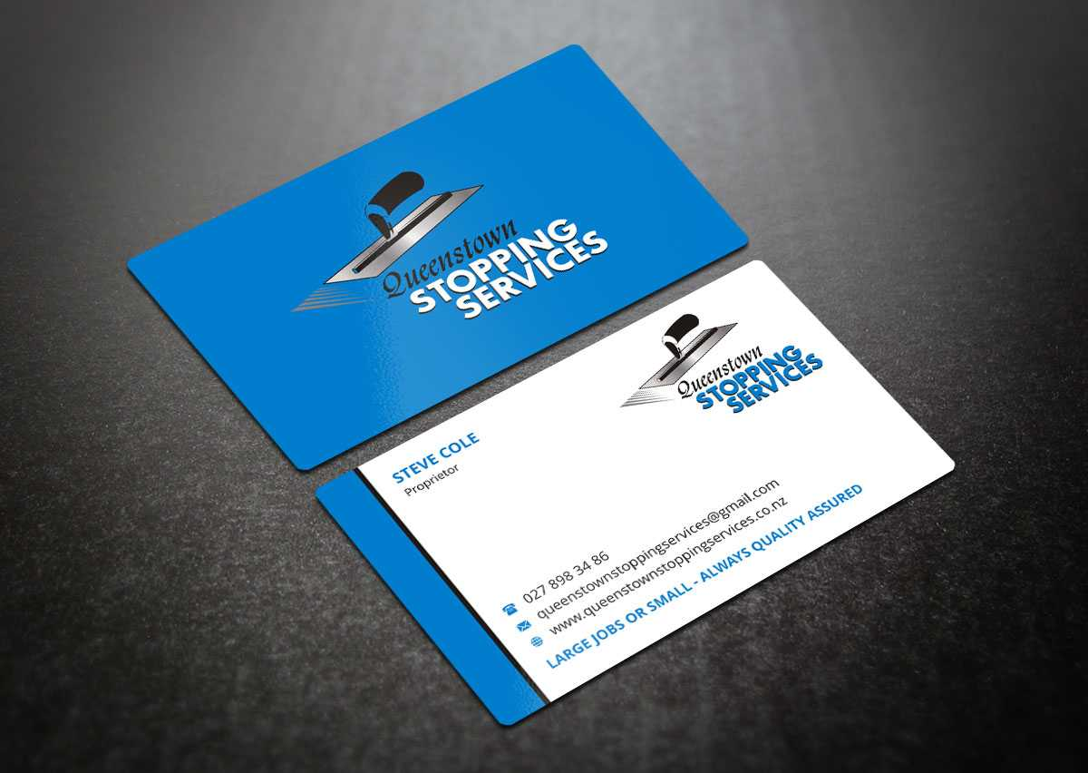 Elegant, Playful, Business Business Card Design For A Intended For Plastering Business Cards Templates