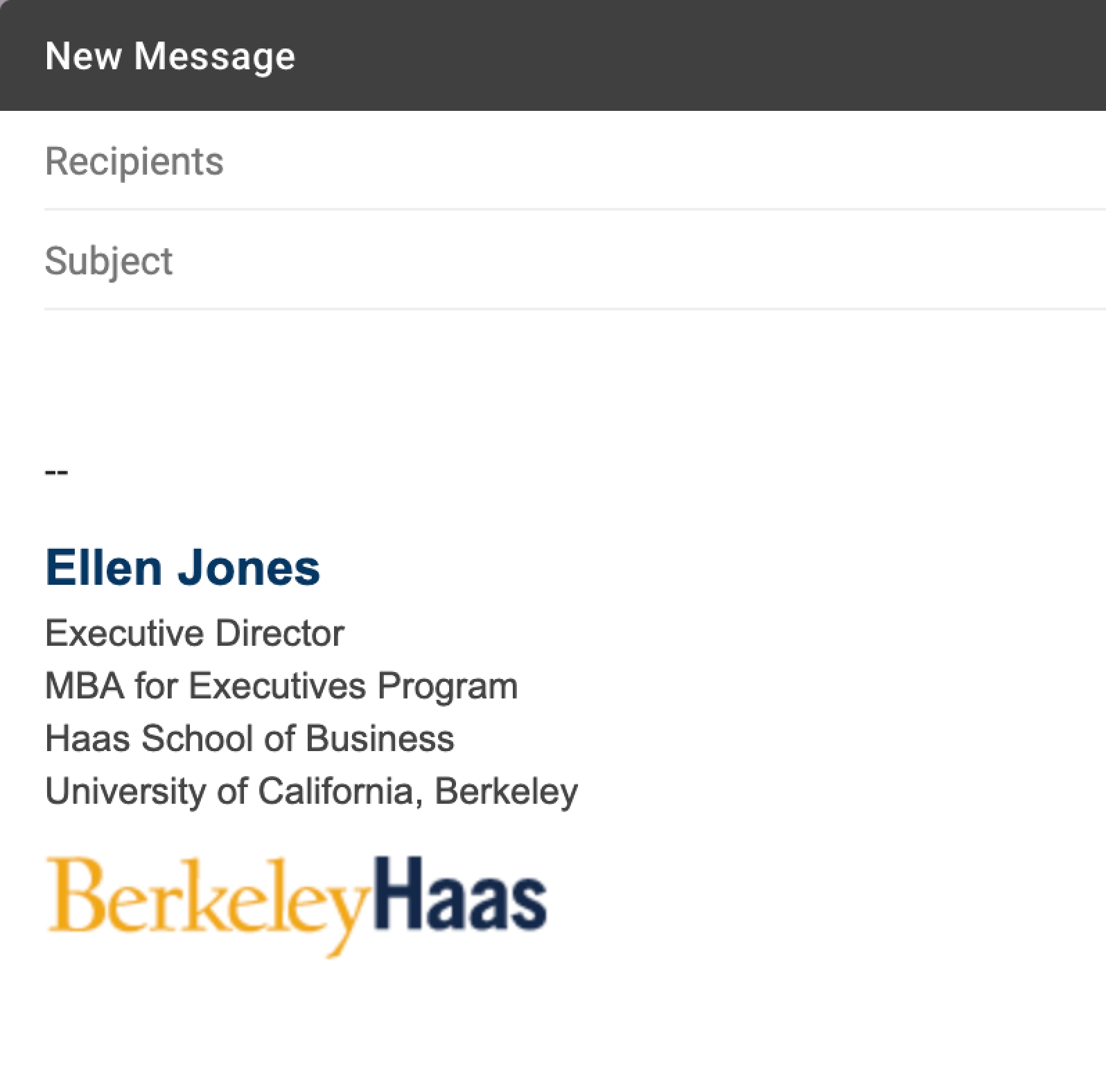 Email Signatures   Brand Toolkit   Berkeley Haas Within Graduate Student Business Cards Template