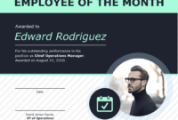 Employee Of The Month Certificate Of Recognition Template for Employee Of The Month Certificate Template