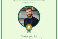 Employee Of The Month Certificate Template in Employee Of The Month Certificate Templates