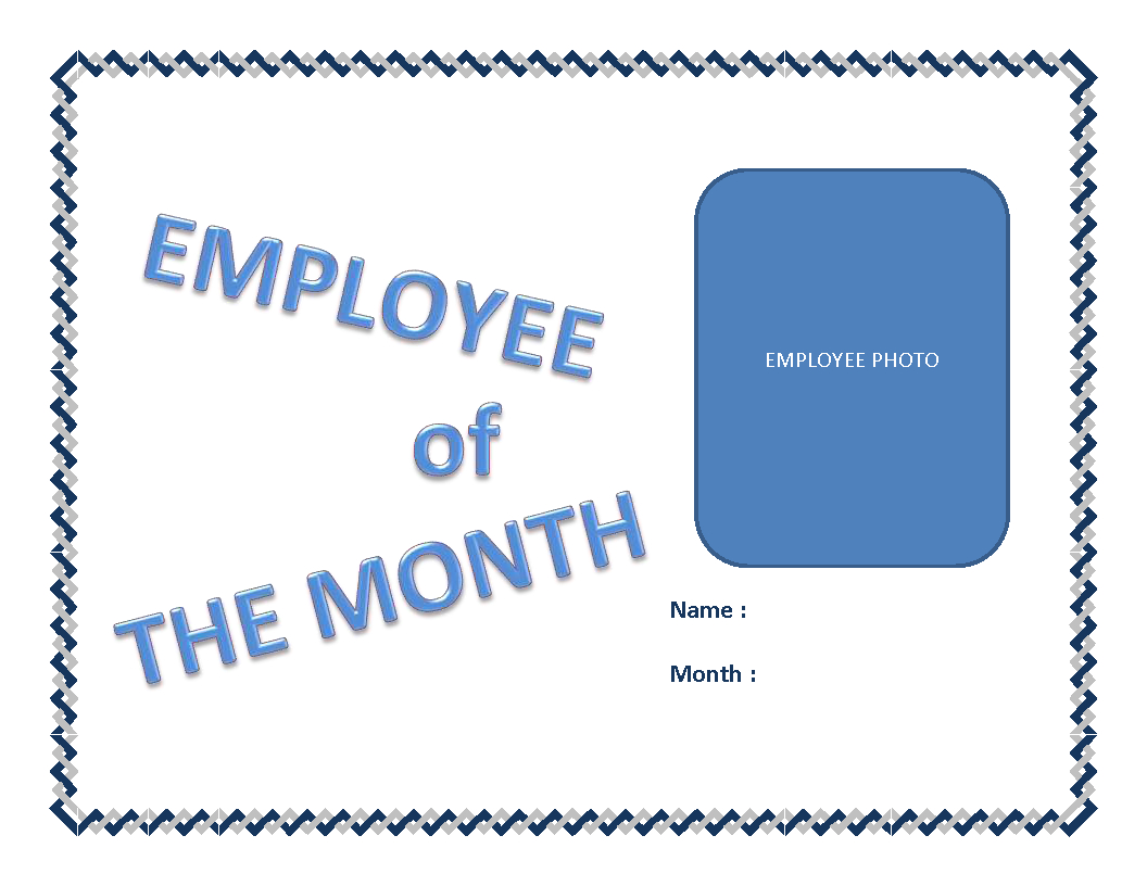 Employee Of The Month Certificate Template | Templates At In Employee Of The Month Certificate Template