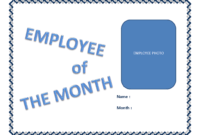 Employee Of The Month Certificate Template   Templates At with Employee Of The Month Certificate Template With Picture