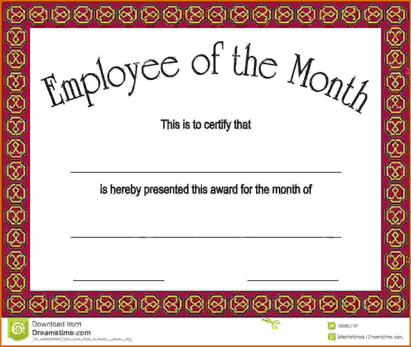Employee Of The Month Letters – Zohre.horizonconsulting.co Pertaining To Employee Of The Month Certificate Templates