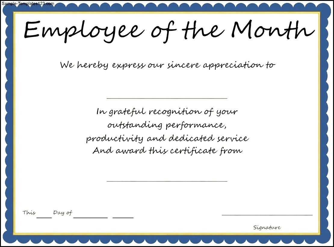 Employee Of The Year Certificate Wording – Zohre Intended For Funny Certificates For Employees Templates