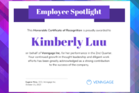 Employee Spotlight Certificate Of Recognition Template pertaining to Leadership Award Certificate Template