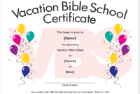 Essential Church Certificates – Children's Edition with Free Vbs Certificate Templates
