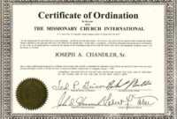 Exceptional Printable Ordination Certificate | Dan's Blog throughout Ordination Certificate Templates