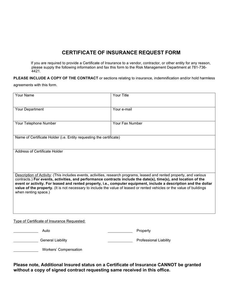 🥰 Free Certificate Of Insurance Template Sample With Examples🥰 Within Certificate Of Insurance Template