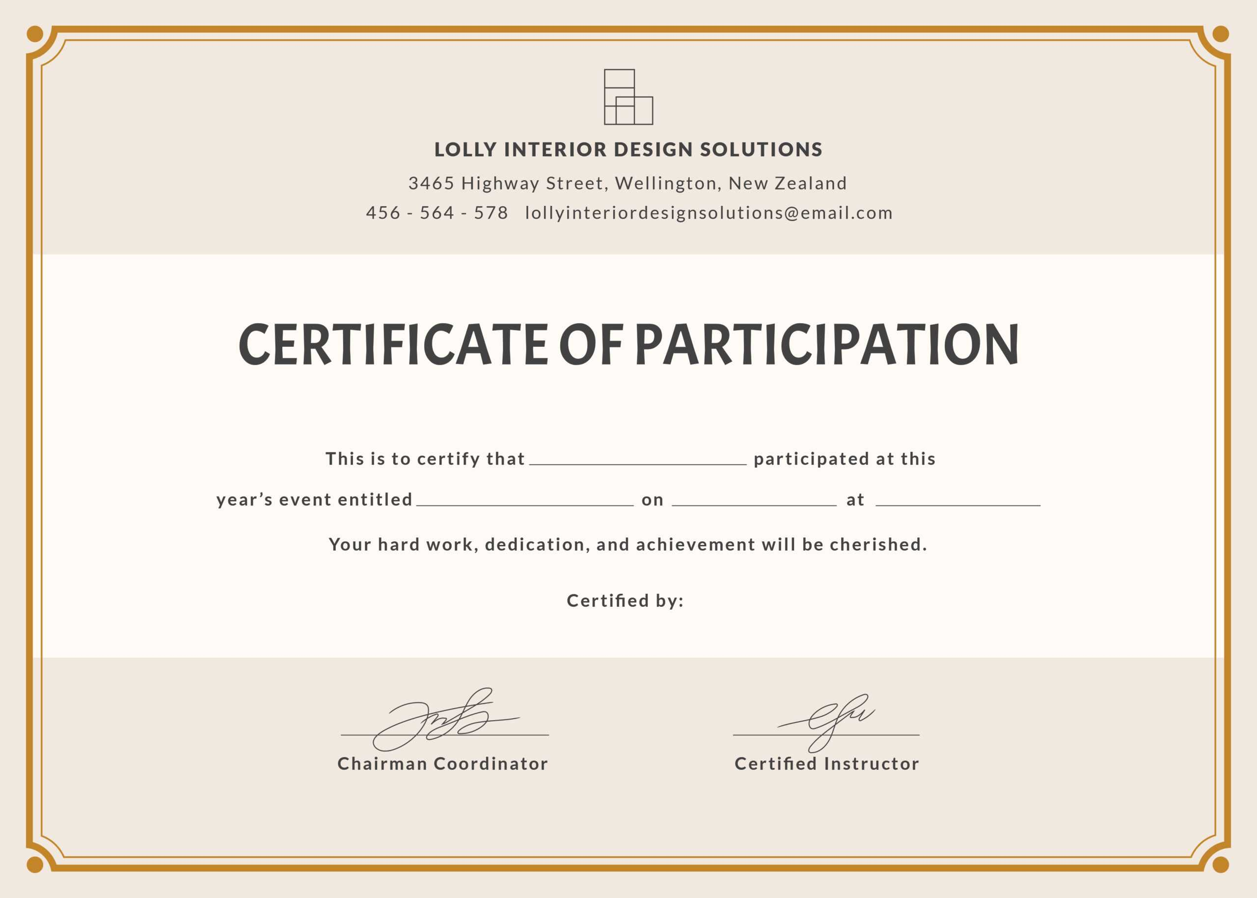🥰free Printable Certificate Of Participation Templates (Cop)🥰 In Certificate Of Participation Word Template