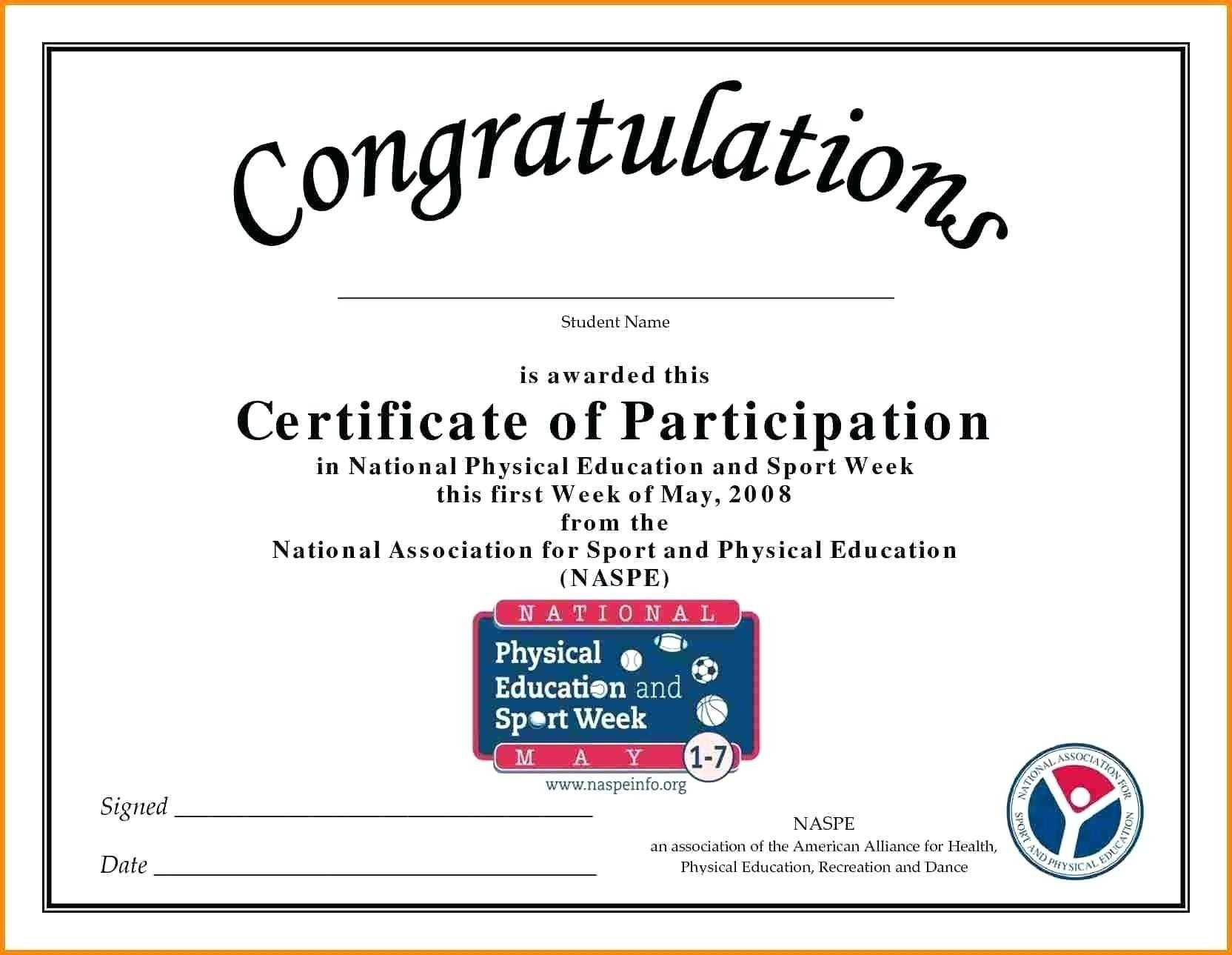 🥰free Printable Certificate Of Participation Templates (Cop)🥰 With Sample Certificate Of Participation Template
