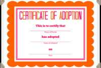 🥰free Printable Sample Certificate Of Adoption Template🥰 pertaining to Child Adoption Certificate Template