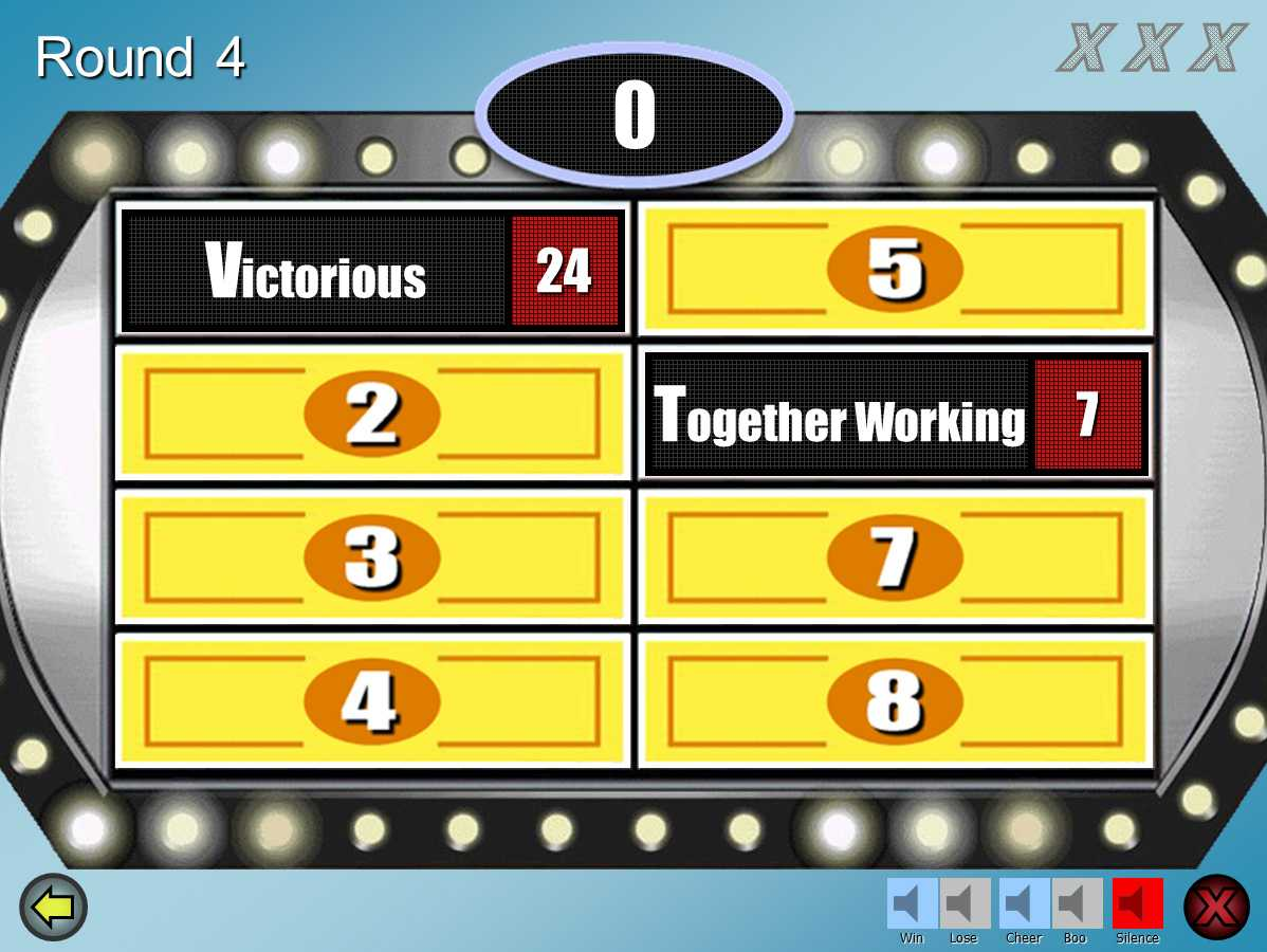 Family Feud Customizable Powerpoint Template - Youth Regarding Family Feud Powerpoint Template Free Download