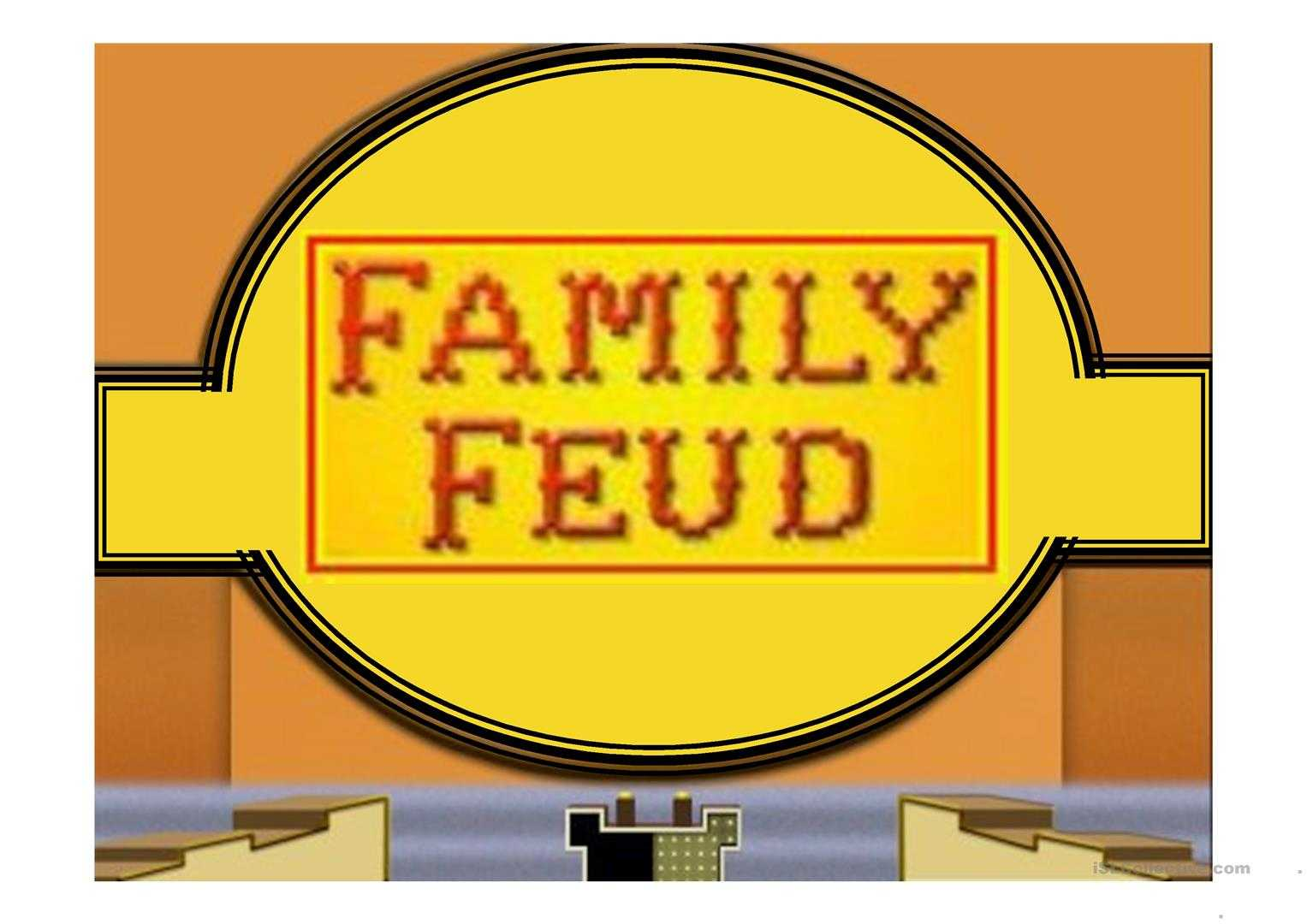 Family Feud Game Power Point Template – English Esl Powerpoints Within Family Feud Game Template Powerpoint Free
