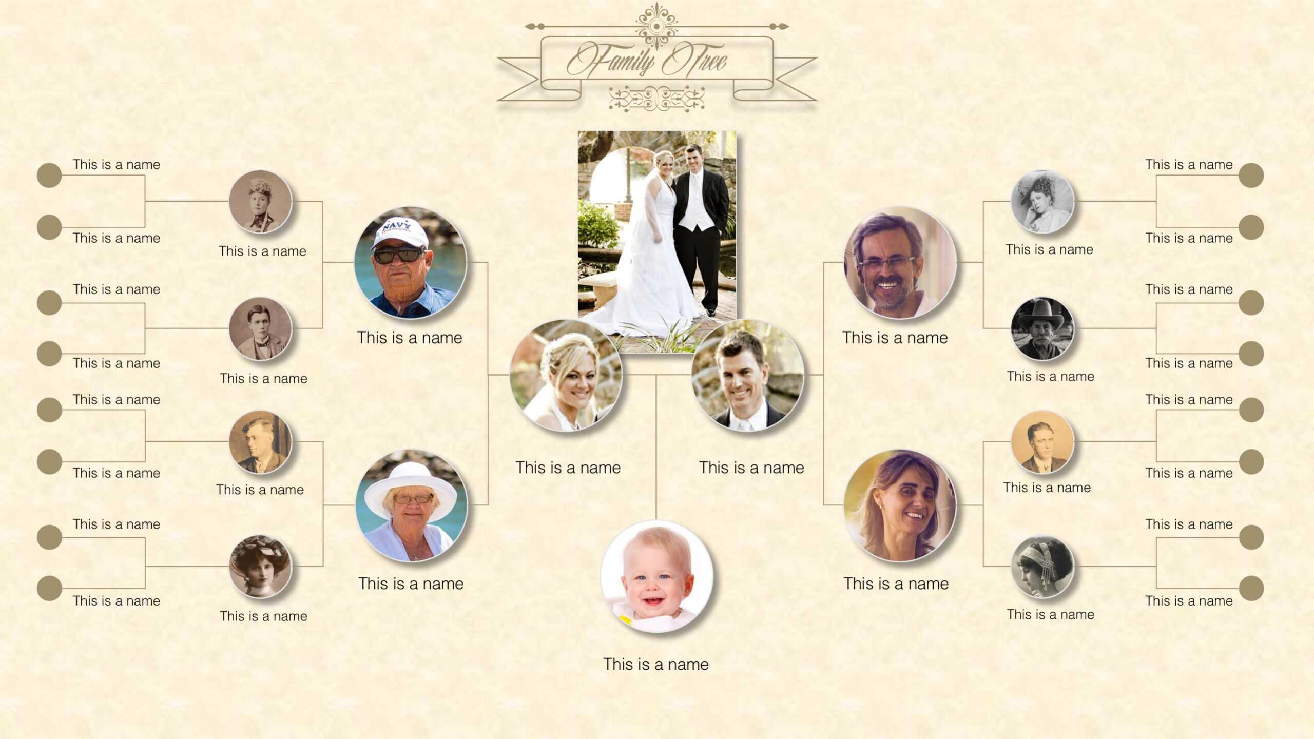 Family Tree Powerpoint Templates Within Powerpoint Genealogy Template
