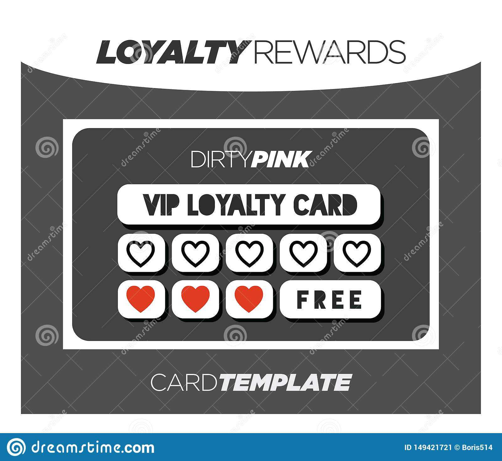 Fancy And Modern Black Loyalty Card Template Stock Regarding Customer Loyalty Card Template Free