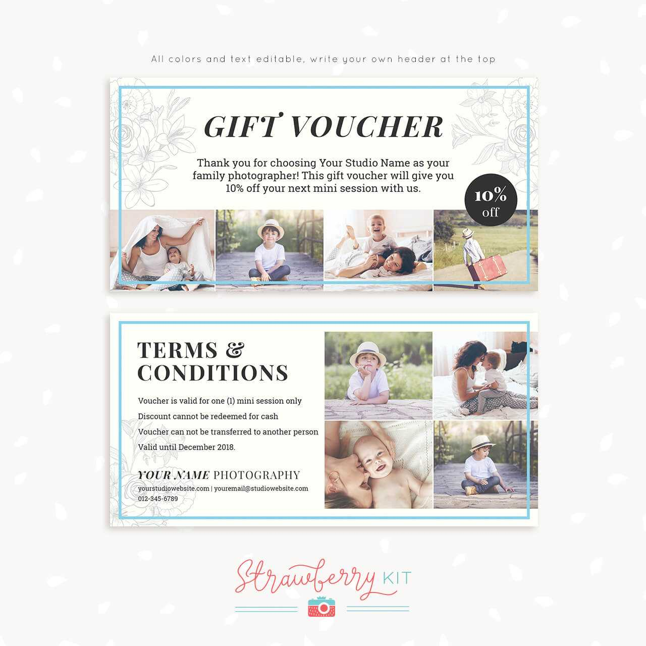 Fantastic Photo Session Gift Certificate Template Ideas Free Inside Photoshoot Gift Certificate Template