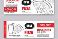 Fast Food Gift Voucher And Coupon Sale Discount Template regarding Pizza Gift Certificate Template