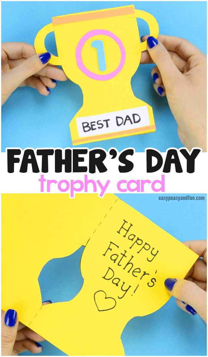 Father's Day Trophy Card – With Printable Trophy Template Throughout Fathers Day Card Template