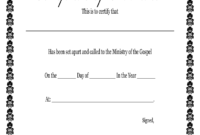 Fillable Online Printable Certificate Of Ordination pertaining to Free Ordination Certificate Template