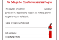 Fire Extinguisher Certificate Pdf - Fill Online, Printable in Fire Extinguisher Certificate Template