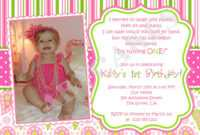 First Birthday Invitation Wording Ideas – Bagvania within First Birthday Invitation Card Template