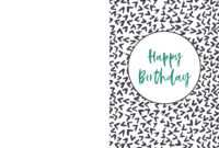 Foldable Printable Birthday Cards For Kids inside Foldable Birthday Card Template