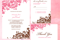 Foliage Borders Invitation, Rsvp And Thank You Cards throughout Free Printable Wedding Rsvp Card Templates