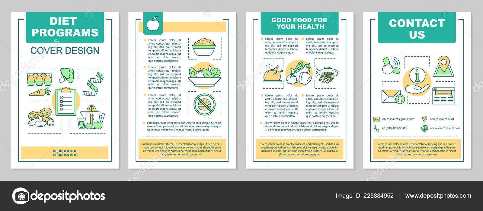 Food Magazine Layout Templates | Healthy Nutrition Brochure With Regard To Nutrition Brochure Template