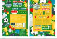 Football Or Soccer Sport Tournament Match Banner — Stock with Soccer Referee Game Card Template