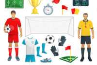 Football Vector Icons Set Of Soccer Sport Game Stock Vector intended for Soccer Referee Game Card Template