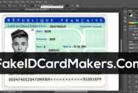 France Id Card Template Psd [Fake Driver License] in Florida Id Card Template