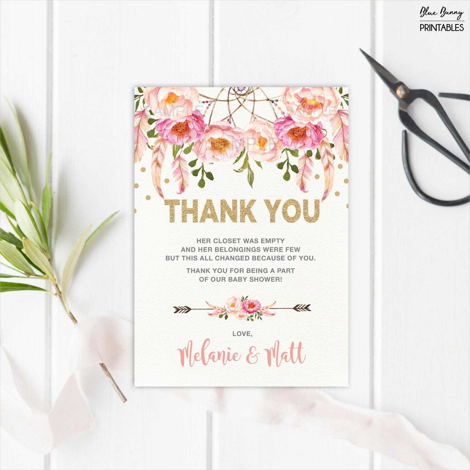 Free 14+ Baby Shower Thank You Cards In Psd | Ai | Eps Intended For Thank You Card Template For Baby Shower