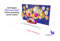 Free 3D Pop Up Online Greeting Card Maker – Tridivi™ intended for Happy Birthday Pop Up Card Free Template