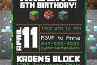 Free 8+ Minecraft Birthday Invitation Designs & Examples In inside Minecraft Birthday Card Template