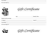 Free Blank Gift Certificate – Raptor.redmini.co within Homemade Christmas Gift Certificates Templates
