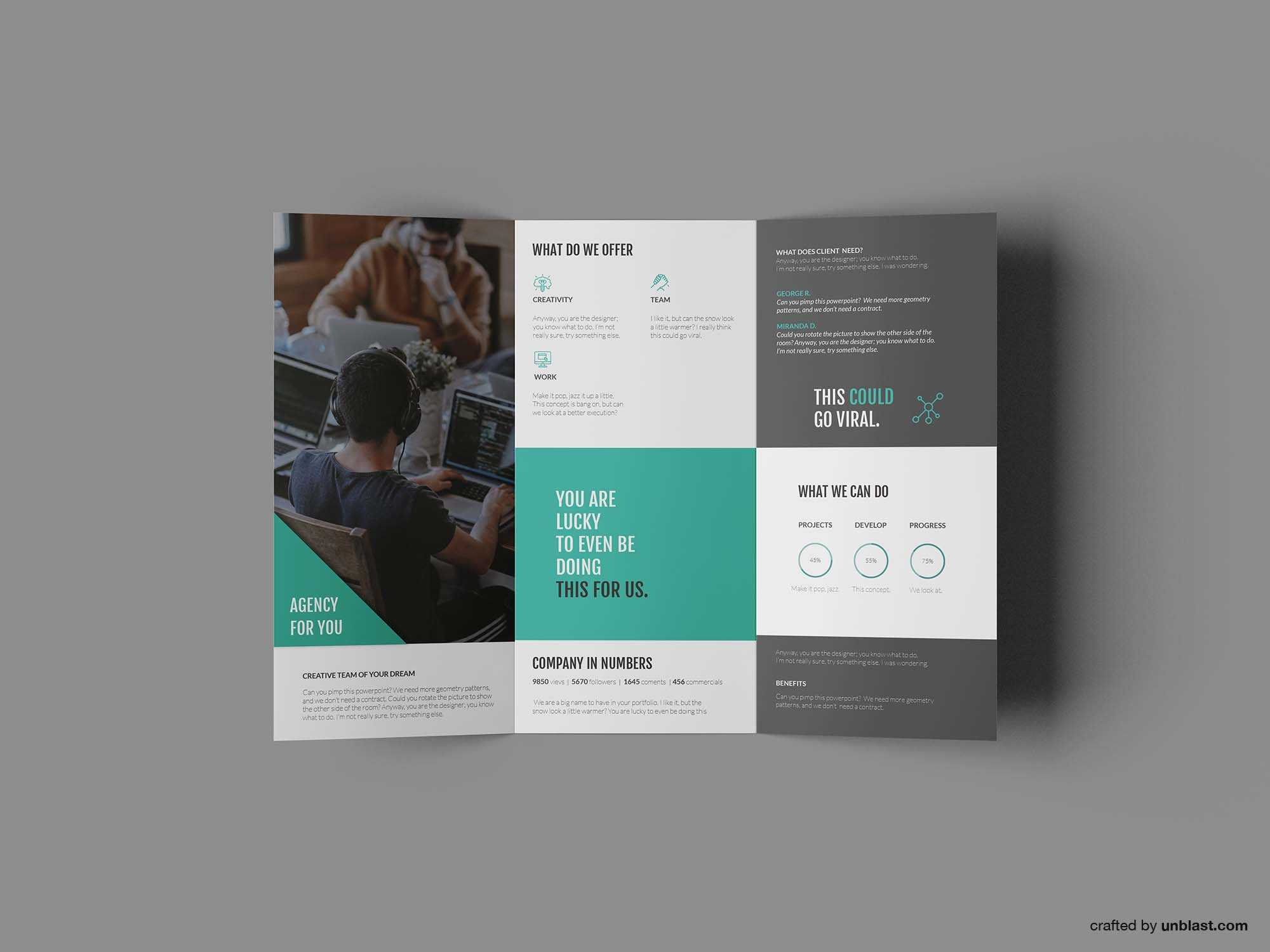 Free Business Trifold Brochure Template (Ai) With Tri Fold Brochure Ai Template