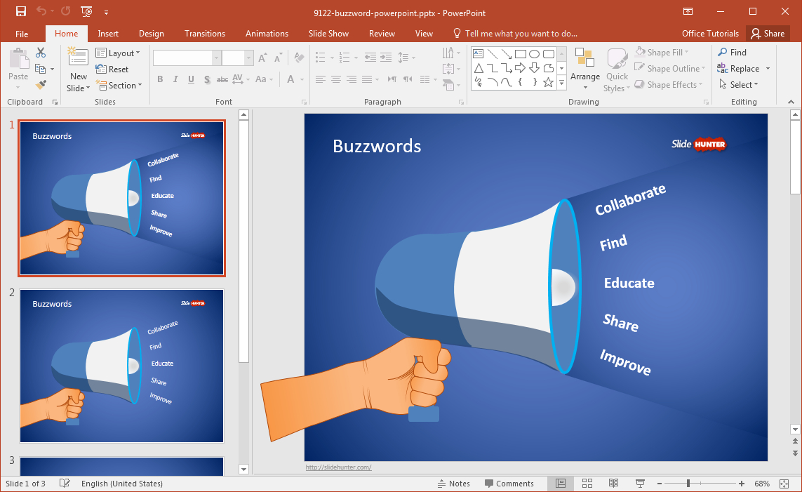 Free Buzzword Powerpoint Template Intended For Powerpoint Replace Template