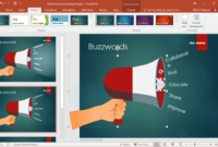Free Buzzword Powerpoint Template with regard to How To Change Template In Powerpoint