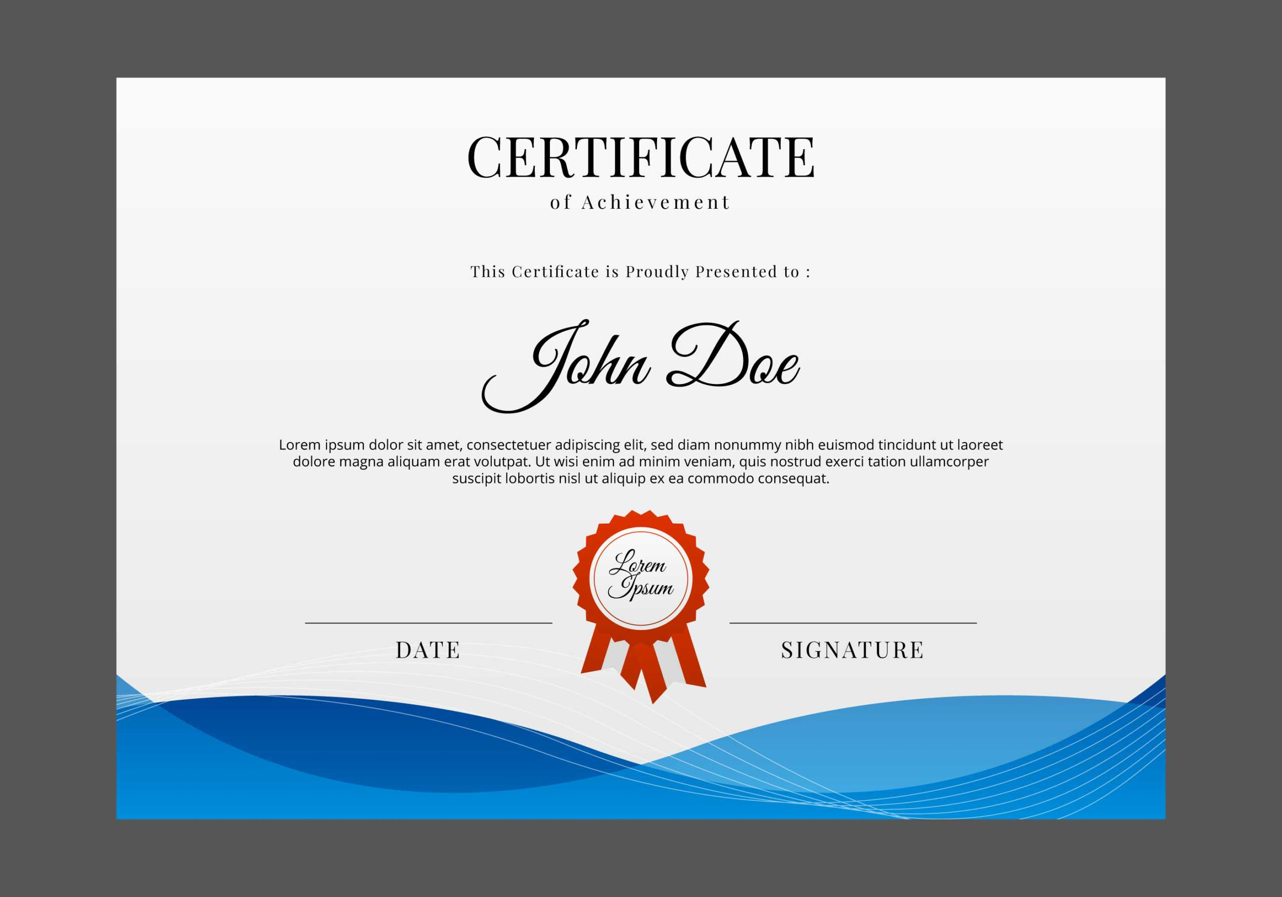 Free Certificate Design – Mahre.horizonconsulting.co Intended For Design A Certificate Template