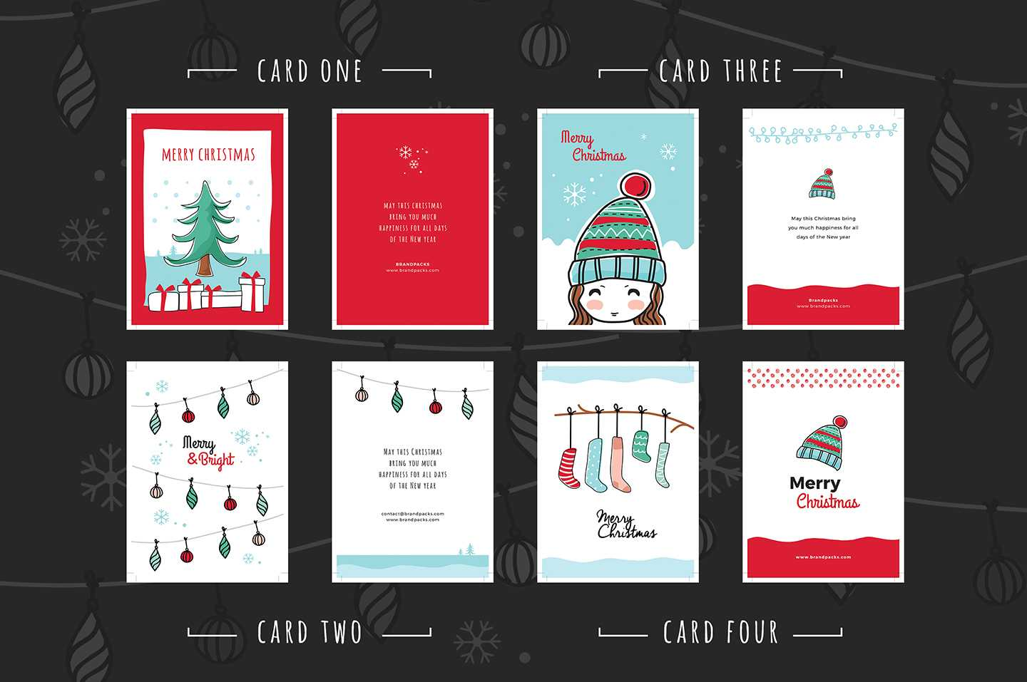Free Christmas Card Templates For Photoshop & Illustrator Pertaining To Christmas Photo Card Templates Photoshop