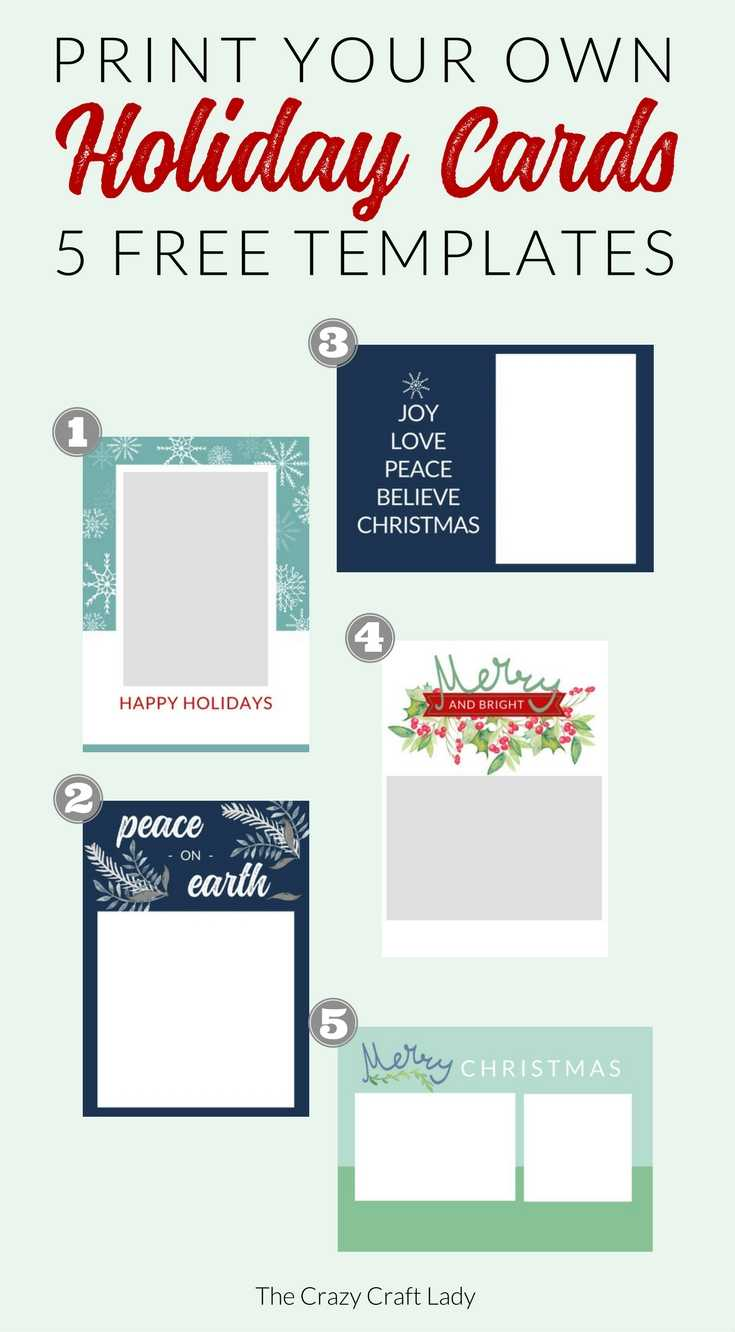 Free Christmas Card Templates – The Crazy Craft Lady With Free Templates For Cards Print