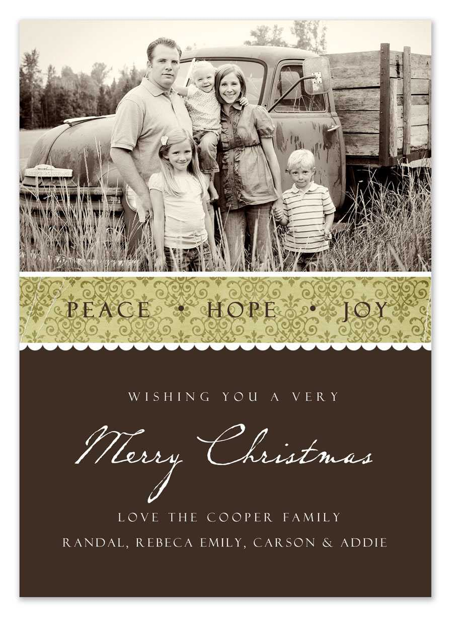 Free Christmas Card Templates With Regard To Free Christmas Card Templates For Photographers