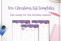 Free Christmas List Templates + An Excel Version – Curious intended for Christmas Card List Template