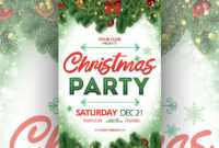 Free Christmas Party Flyer Template – Creativetacos in Christmas Brochure Templates Free