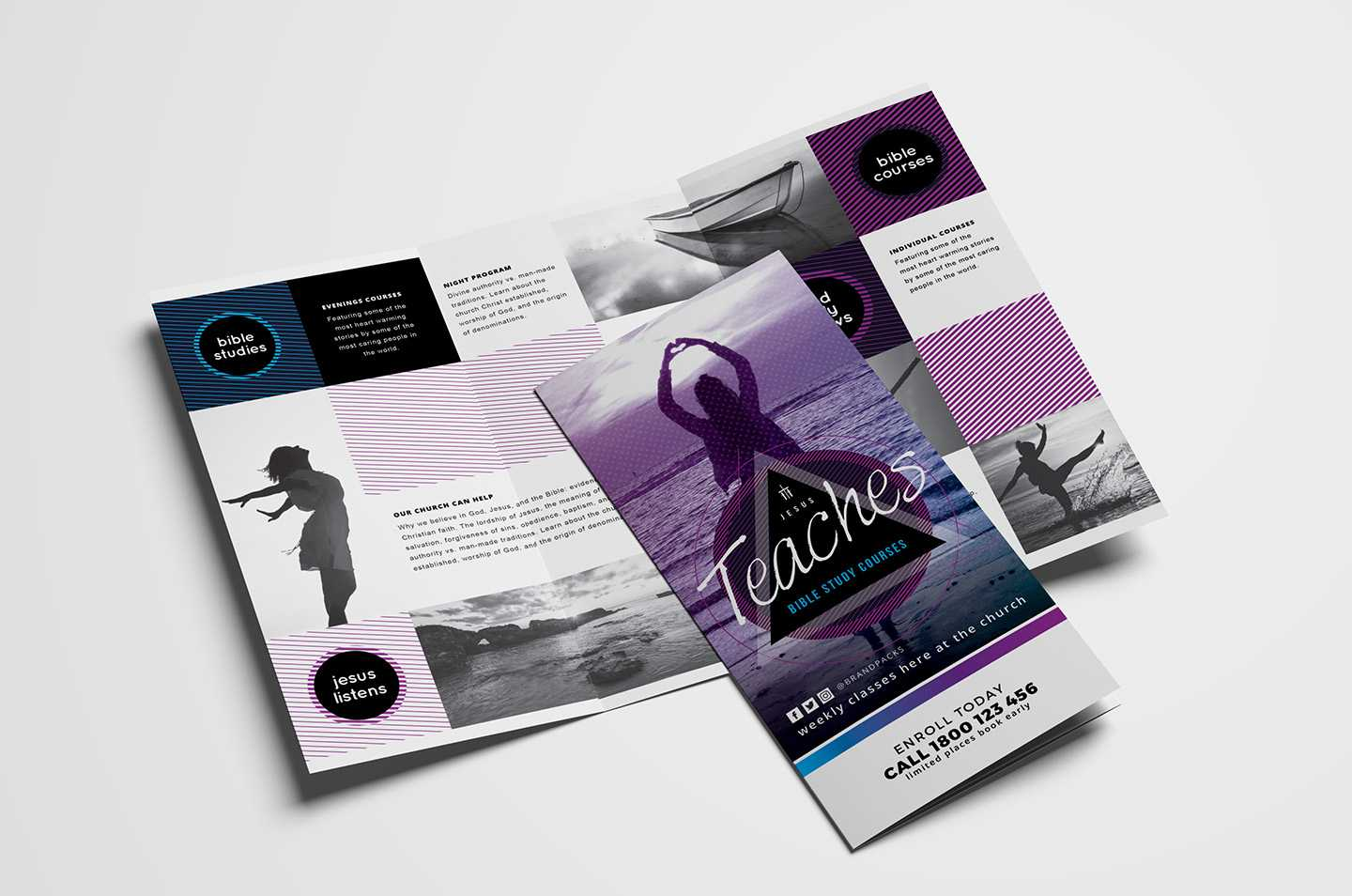 Free Church Templates – Photoshop Psd & Illustrator Ai Regarding Free Illustrator Brochure Templates Download