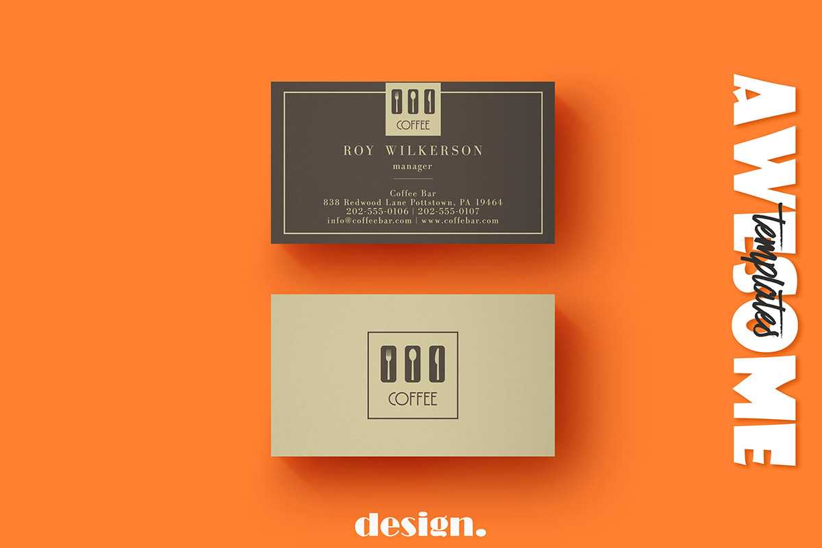 Free Coffee Business Card Template - Creativetacos In Coffee Business Card Template Free