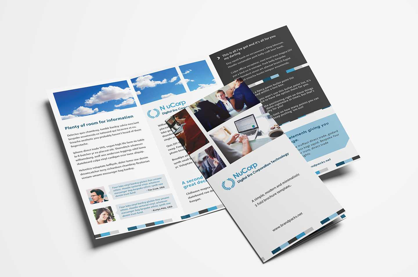 Free Corporate Trifold Brochure Template In Psd, Ai & Vector For Adobe Illustrator Tri Fold Brochure Template