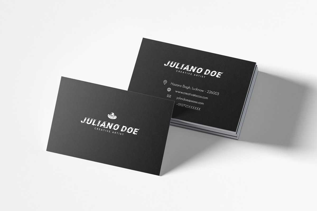 Free Creative Business Card Template – Creativetacos Within Unique Business Card Templates Free