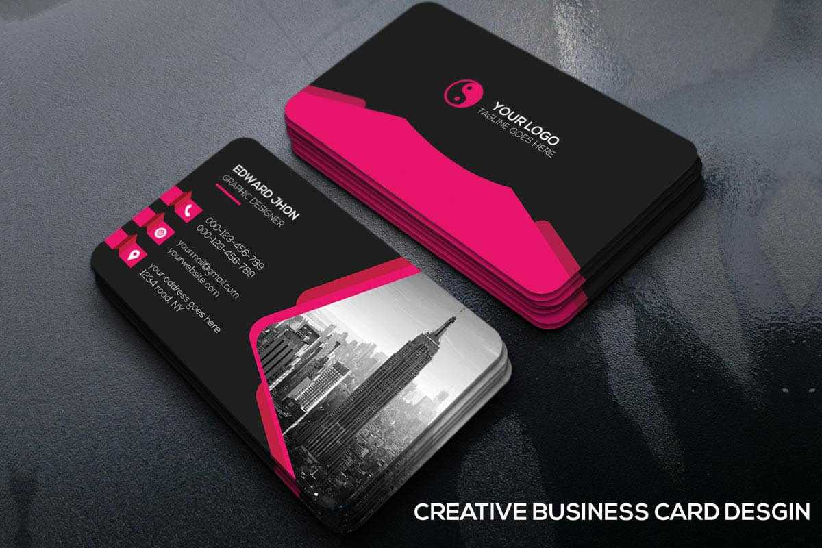 Free Creative Business Card Template - Creativetacos Within Unique Business Card Templates Free